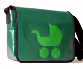 Messenger-Bag mit Motiv Kinderwagen