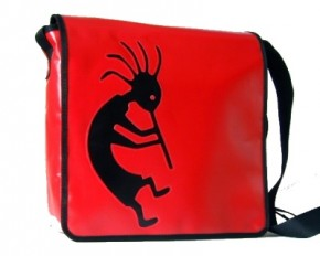 Messenger-Bag mit Motiv Kokopelli 1