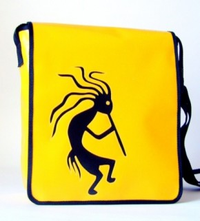 Messenger-Bag mit Motiv Kokopelli 2
