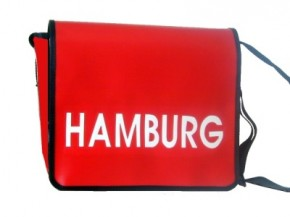 Messenger-Bag mit Motiv Hamburg